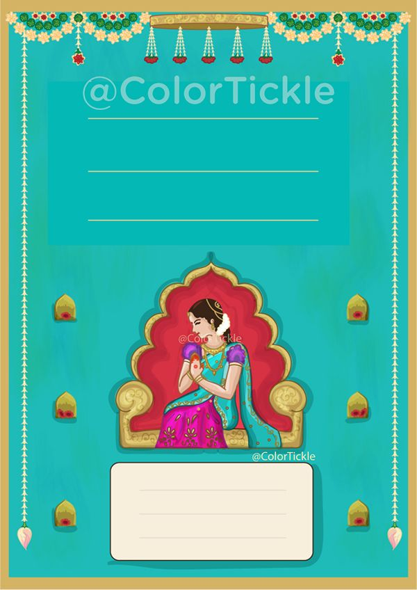 Voni Invitation On Behance Half Saree Function Indian Wedding Invitation Cards Half Saree