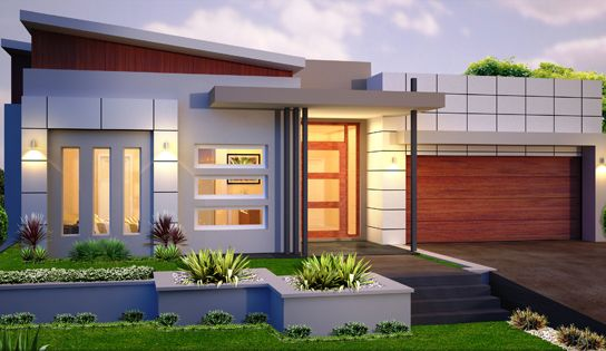 A small modern house. If you are on the budget this plan is a good choice.