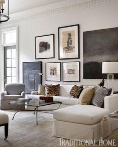 Sofa upholstery. Master bedroom design by Robert Brown.