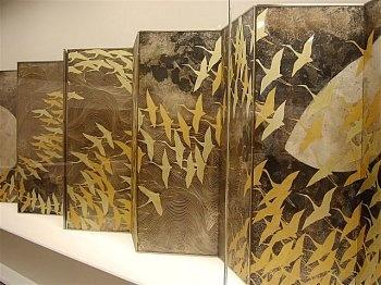 Kayama Matazo 加山 又造 (1927-2004) A thousand cranes 千羽鶴 - pair of six-fold screens - The National Museum of Modern Art, Tokyo, Japan - 1970