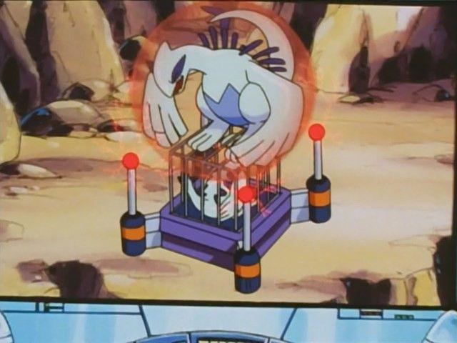 "#Lugia has been captured in Pokemon Season 5 Episode 12 ""A Parent, Trapped"". More info on #Pokemon Season 5: Master Quest @ http://www.pokemondungeon.com/animated-series/pokemon-s05-master-quest"