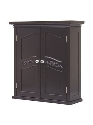 45% OFF Elegant Home Fashions Versailles Double Door Wall Cabinet (Dark Espresso)