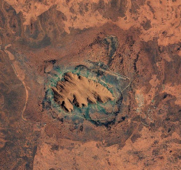 Uluru From Space