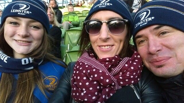 Leannes first Leinster Rugby game, Aviva, 2014