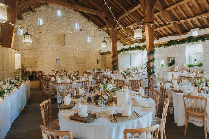 Wedding Reception Decor | Pink & Gold Summer Wedding at East Riddlesden Hall Barn, Yorkshire | Custom Made Bridal Separates | Blush Bridesmaid Dresses | Next Suits | Laura Calderwoods