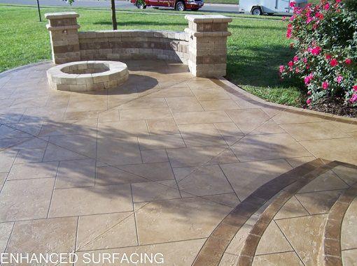 42 best patios images on pinterest | patios, backyard ideas and ... - Concrete Patio Resurfacing Ideas