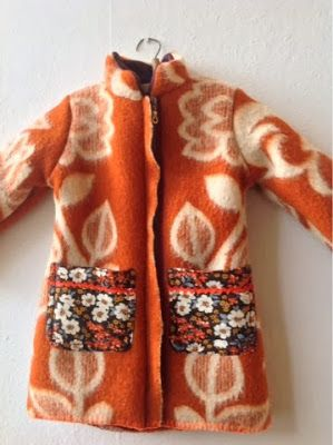 Tutto Riciclabile handmade: vintage blanket kids coat # 1