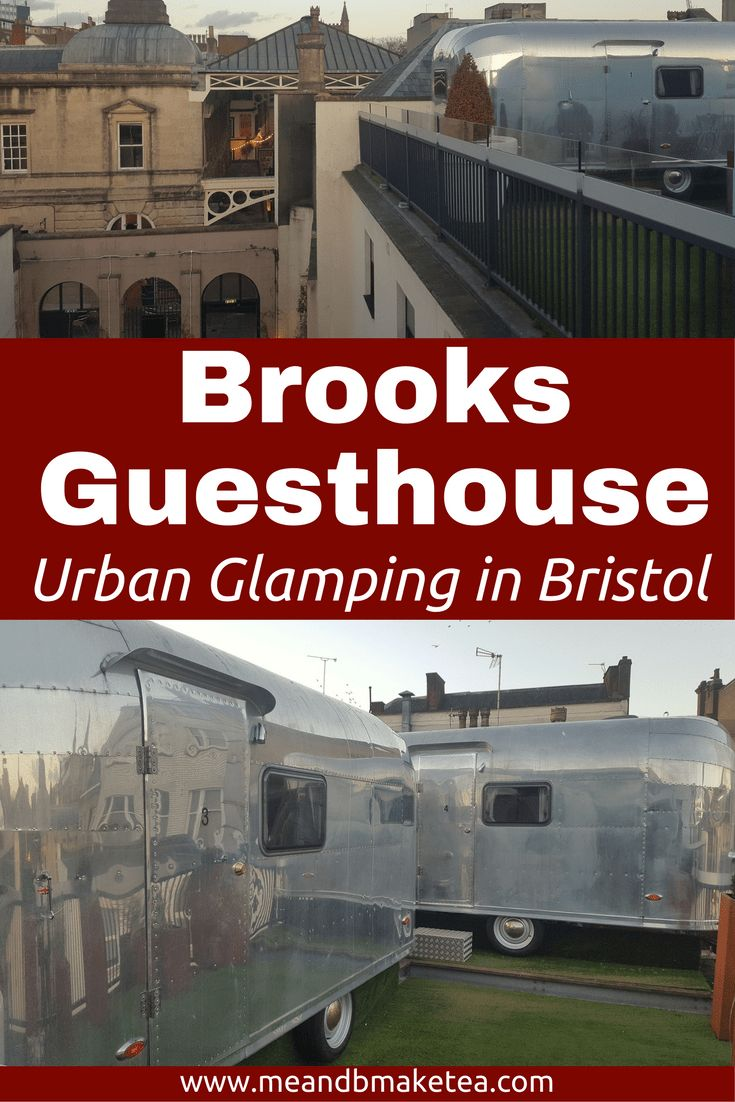 Urban Glamping in Bristol – Our Review of Brooks Guesthouse!    Brooks Guesthouse is a boutique bed and breakfast, right next door to St Nicholas Market. It's easy to find and only a few minutes walk from the Queen Charlotte, NCP car park. For 24 hour overnight parking, it cost us £23.What is a Rooftop Rocket?!Our accommodation for the night was in one of the four retro, rocket caravans, parked right on top of the guesthouse.