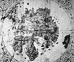The De Virga world map was made by Albertinus de Virga between 1411 and 1415.