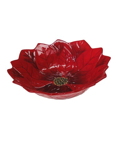 Take a look at this Certified Poinsettia Bloom Serving Bowl $13.99