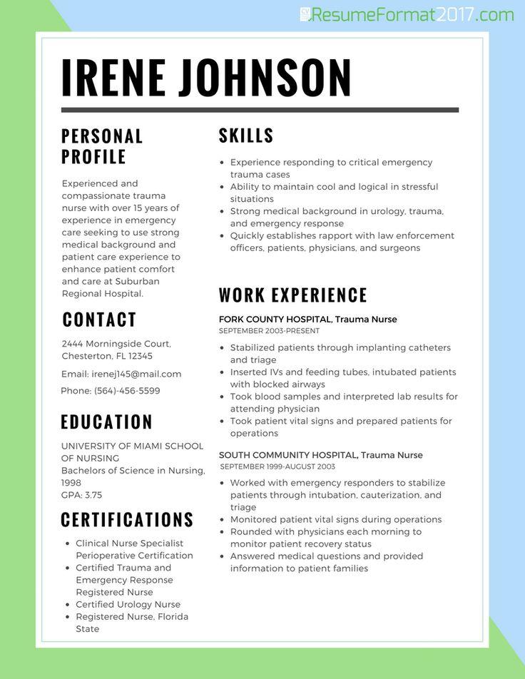 7 best Resume Template Open Office images on Pinterest Free open - trauma nurse sample resume