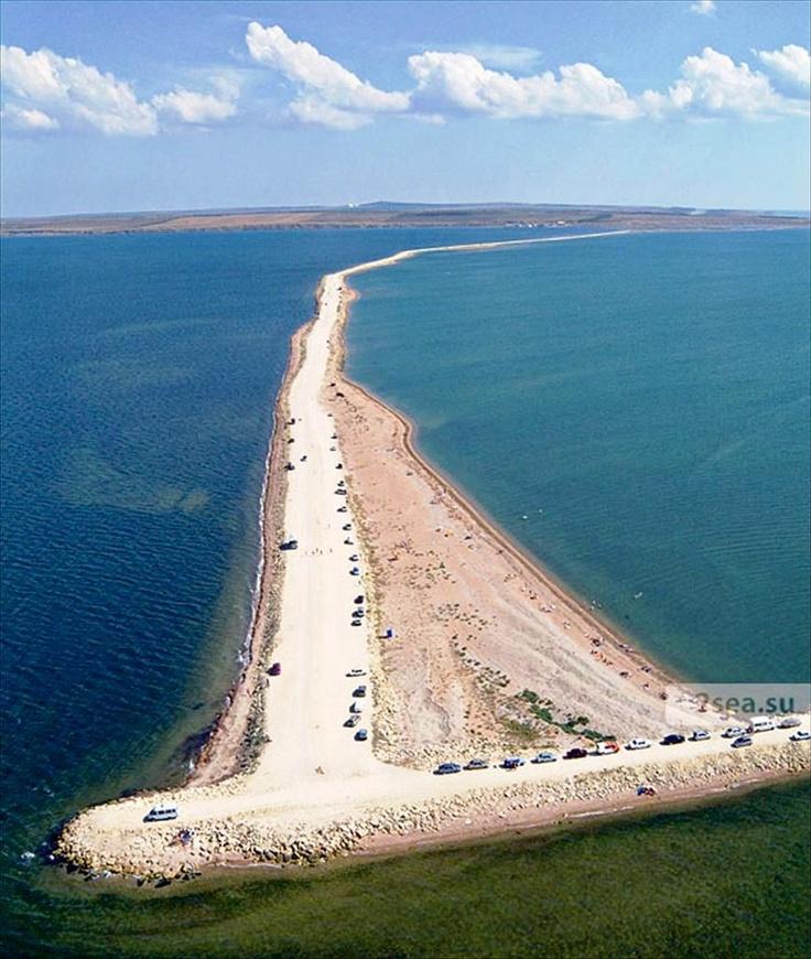 The Tuzla Spit, The Black Sea, The Sea of Azov