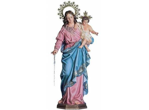 Virgen del Rosario Venta de imágenes religiosas para Iglesia - Venta de imagen del Santo Rosario. Virgen del Santo Rosario con el Niño Jesús en brazos. Imagen para Iglesia a la venta en 50, 80, 100, 120, 140 y 160 cm. La imagen incluye rosario de rezar. http://www.articulosreligiososbrabander.es/venta-imagen-virgen-del-rosario-rezar-iglesia.html #ImagenVirgenRosario #ImagenReligiosaVirgen #ImagenReligiosaIglesia #VirgendelRosario #VirgenRosario