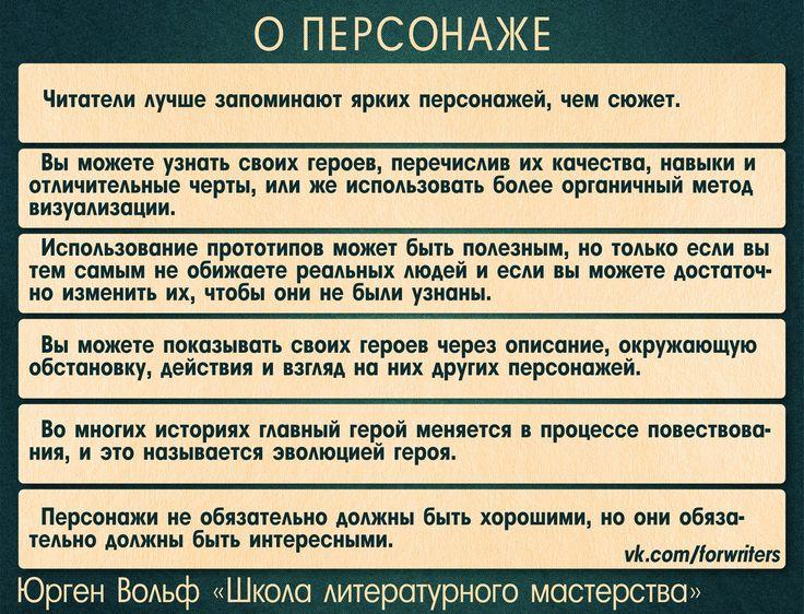 """О персонаже (Юрген Вольф """"Школа литературного мастерства"""")"""