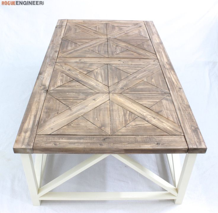 Table Plans DIY Parquet Coffee Table Plans  - Free DIY plans | rogueengineer.com #ParquetCof...