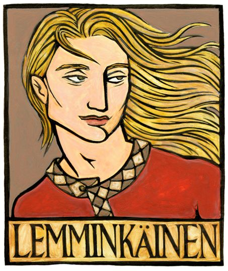 Lemminkäinen is a Finnish hero-God of the great national epic called the Kalevala. He is a good-natured and talented God, and very popular with the women.