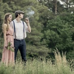 This NC couple staged a vintage theme e-session with Neil Boyd Photography