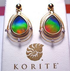 Korite Solara earrings http://www.canadianammolite.com/KoriteGoldCollection.html