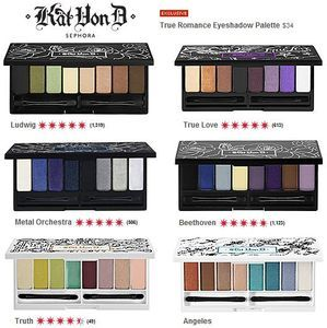 Kat Von D eyeshadows are the best pigmented eyeshadows I've found. They are true to their color and are long wearing.