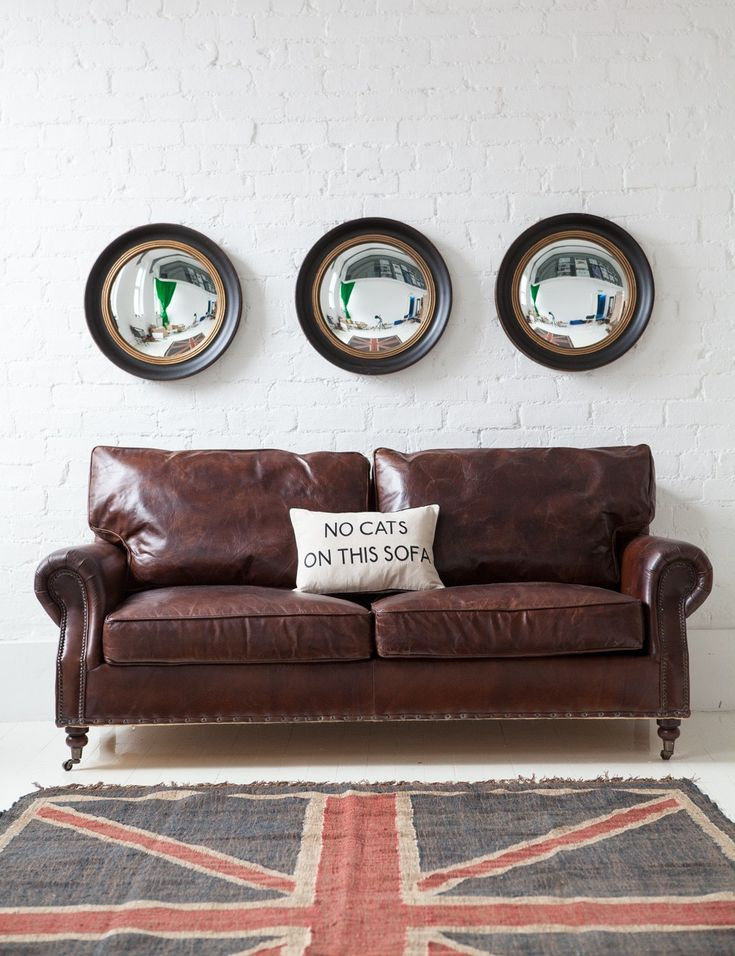 Perfect Vintage Leather Sofa   3 Seater