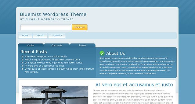 "InterPhase is a beautiful, clean design that maintains a ""cutting edge"" feel without loosing its sense of professionalism. This theme comes with a large array of custom options pages that let you customize everything from the font color to the 125×125 banner image in the sidebar."