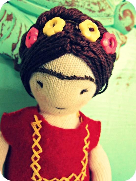 Minha primeira boneca...Frida <3