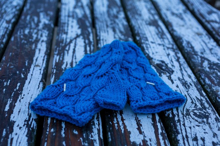 Turquoise Mittens Gloves Cashmere Warmers Fingerless Knitting Swarovski by RoyalHandicrafts on Etsy