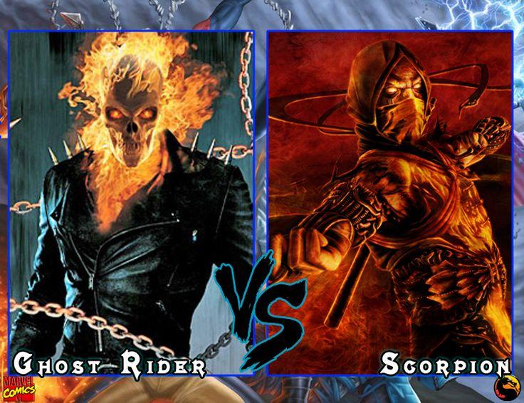Ghost Rider vs Scorpion   Marvel vs dc, Marvel vs, Marvel