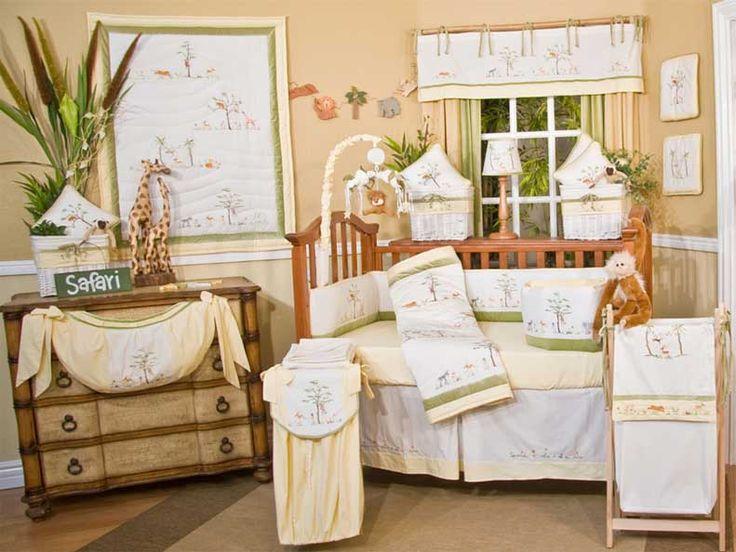 Baby Nursery, Mesmerizing Baby Bedding Sets Design With Cream Colour Room For Safari Concept: Mesmerizing Baby Room Design Ideas