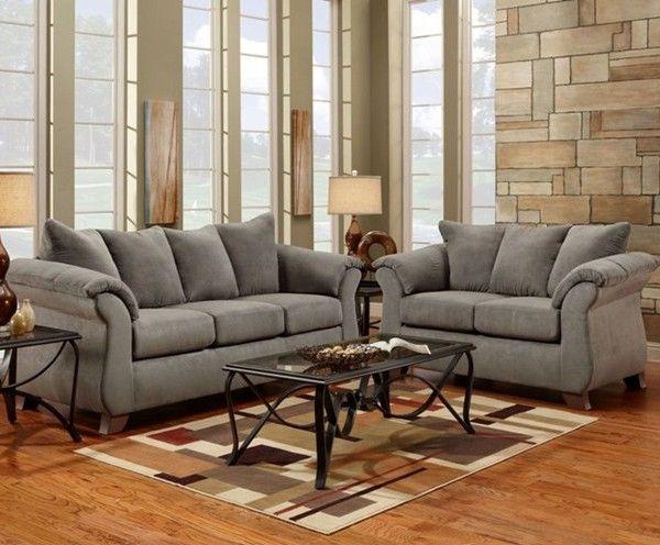 Cool Grey Microfiber Sofa and Love Seat In 2019 - Amazing Blue Microfiber sofa Simple Elegant