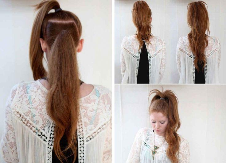 Peinado cola de caballo con volumen - http://www.entrepeinados.com/peinado-cola-de-caballo-con-volumen.html