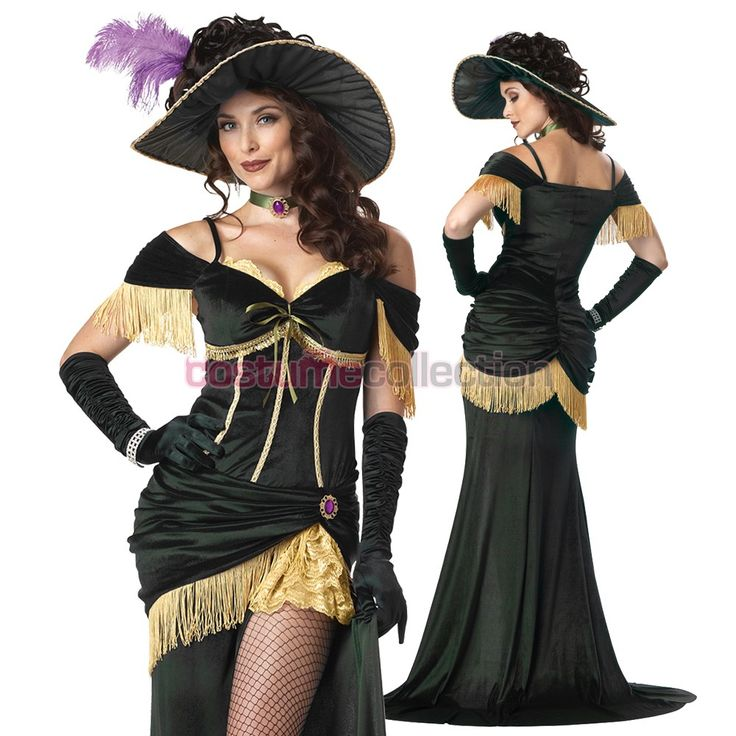 Wild+West+Saloon+Girl+Madame+Costume Perfect for trick-or-treating on Bourbon St.!