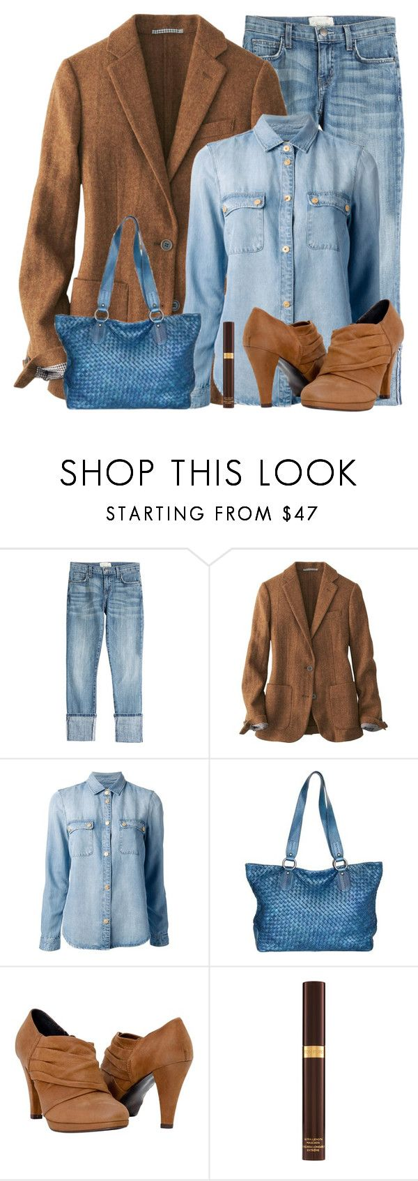 """Fall"" by vicky-soleil ❤ liked on Polyvore featuring Current/Elliott, Uniqlo, 7 For All Mankind, Nino Bossi Handbags and Tom Ford"