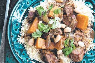 The subtle spice mix of cinnamon, ground ginger and paprika make this casserole a classic Moroccan delicacy. You can add other Moroccan flavours such as olives, chopped preserved lemon or fresh dates.