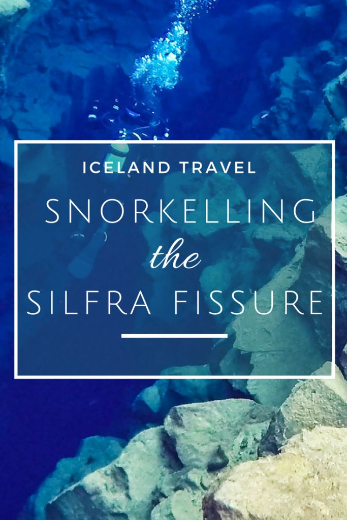 Snorkelling the Silfra Fissure: Snorkelling between continental plates in Iceland in glacier water