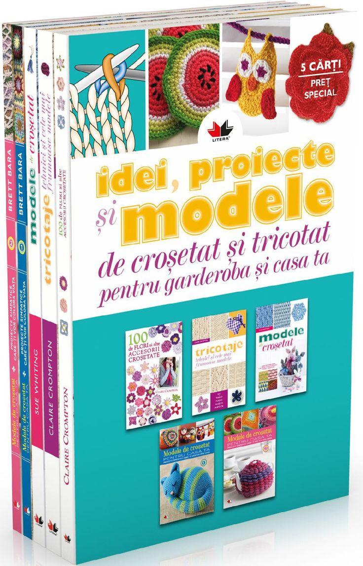 - Pachet: Idei, proiecte si modele de crosetat si tricotat (5 volume) -