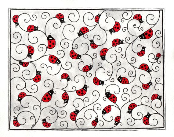 #ladybug #doodle #zentangle #coccinelle #inspiration