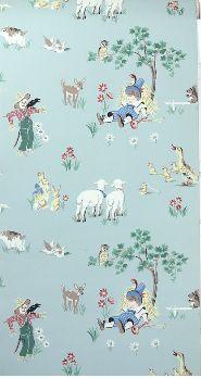 Vintage Wallpaper Children S Nursery Rhyme Little Boy Blue