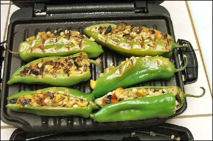 Recipe For Grilled Stuffed Anaheim Chili Peppers Veggies And Sides Pinterest To Heaven