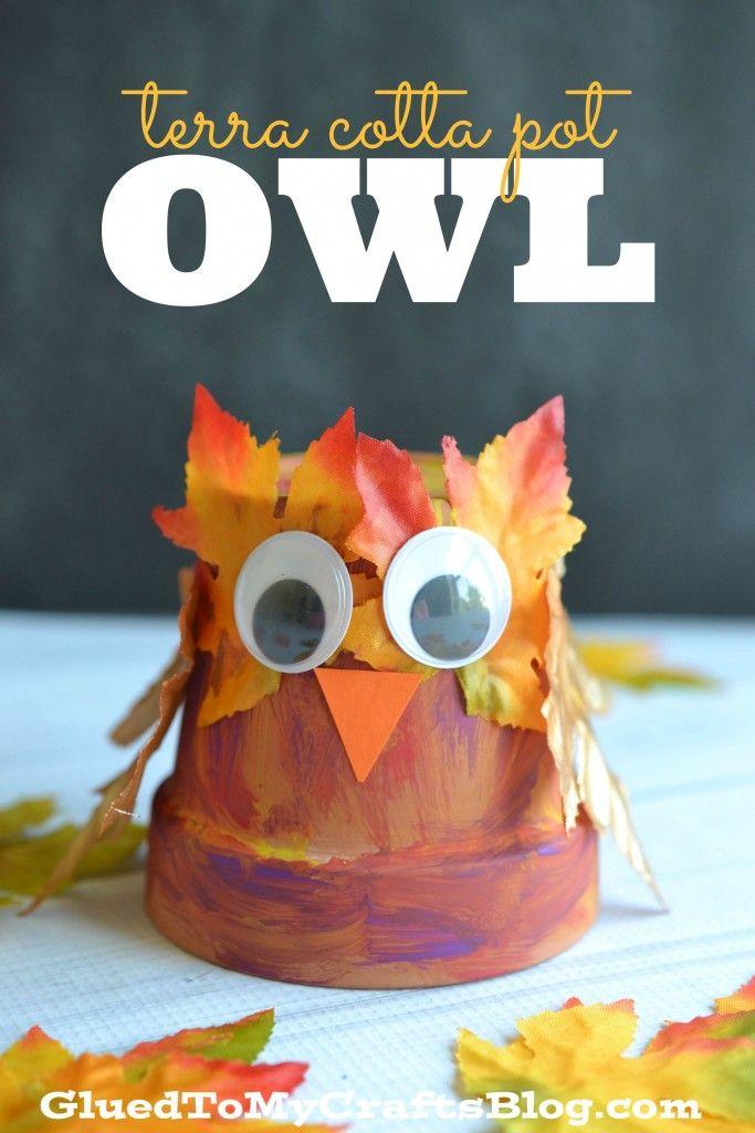Terra Cotta Pot Owl - Kid Craft