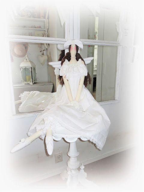 0346af1182ac Kickis sytt nytt och nött: Stor ängel i vitt *Shabby chic * | Tilda ...