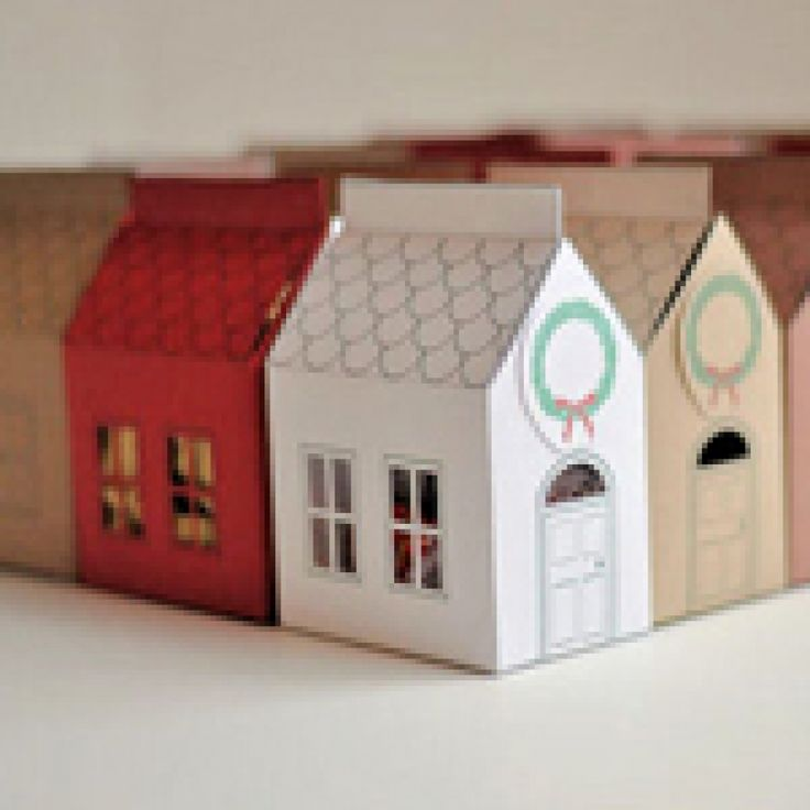 Make Your Own House Gift Box Paper Crafts Pinterest