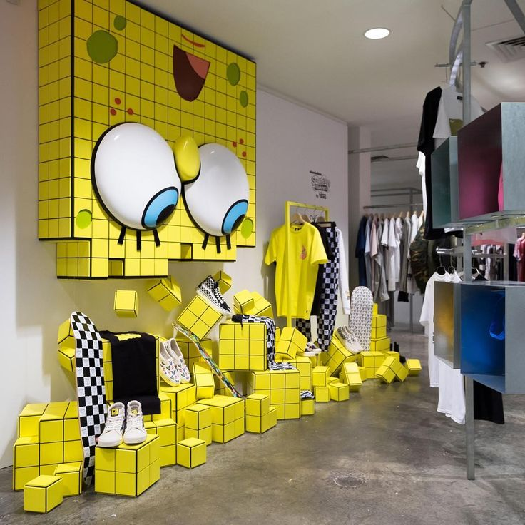 The Vault by Vans x SpongeBob SquarePants collection launches Saturday February 24th with a special installation in the Basement of DSMNY. In-store at 11am EST and online at 2pm EST. @vans