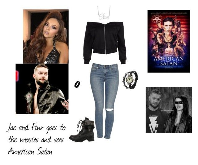"""Jae and Finn seeing American Satan movie"" by gothicninibalor ❤ liked on Polyvore featuring WWE and West Coast Jewelry"