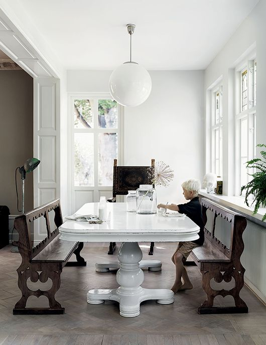 chic rennovated dining room in scandinavian home / sfgirlbybay