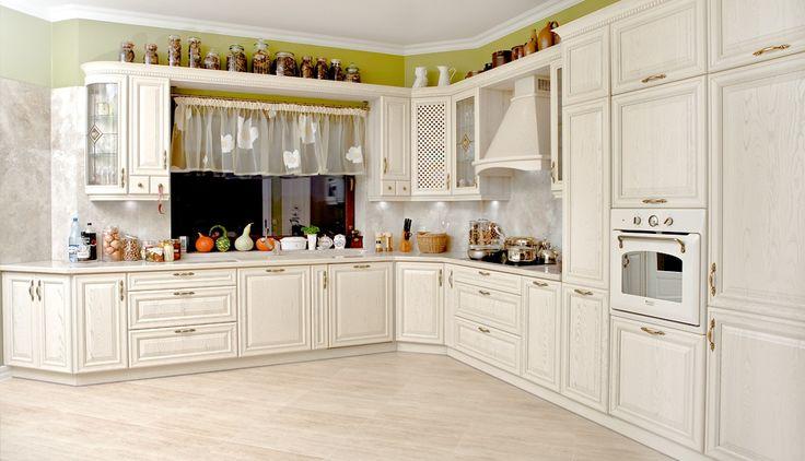 Drewniana kuchnia w stylu retro  Kuchnie klasyczne   -> Kuchnia Retro Jasna