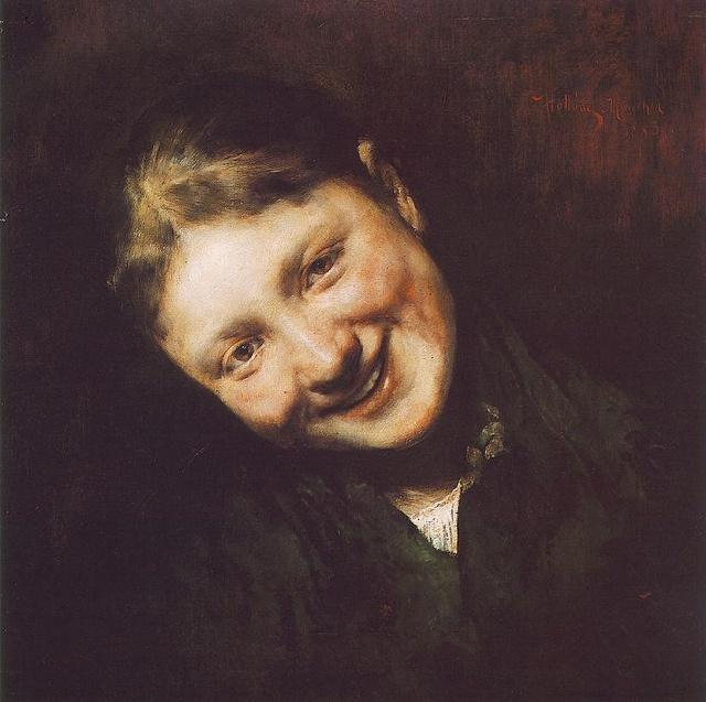 Laughing girl. Hollosy, Simon