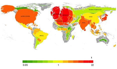 Based on size of population, Britain is a world leader in greenhouse gas…