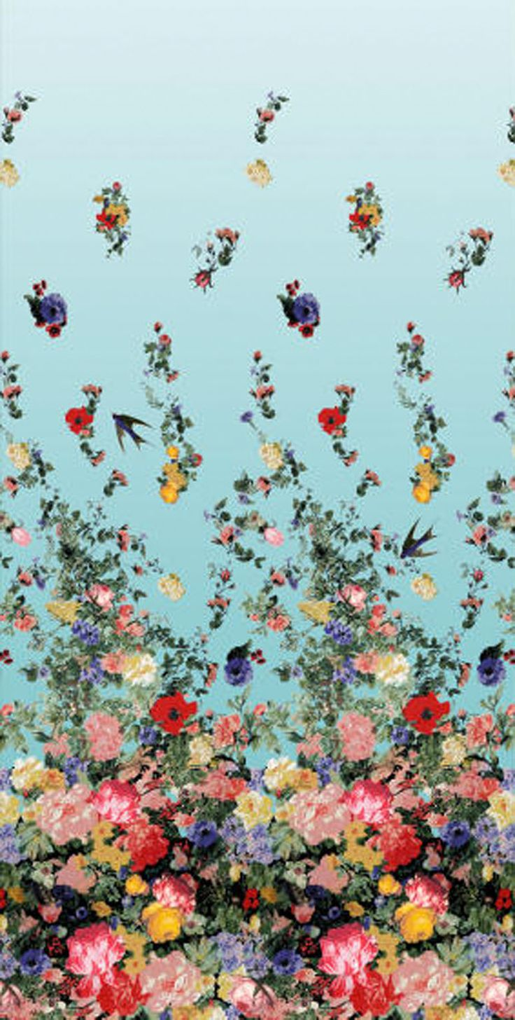 Christian Lacroix fabric, inspired by flowers tossed ringside at bullfights.