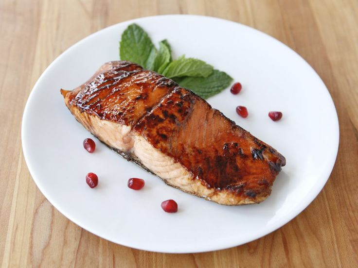 The flavor of this salmon is really awesome. The pomegranate molasses ...